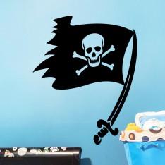 Sticker Sticker drapeau pirate