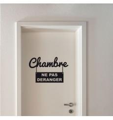 Sticker Chambre ne pas déranger