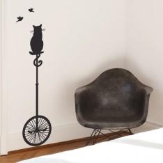 Sticker Chat sur monocycle