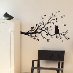 Sticker Chat sur sa branche