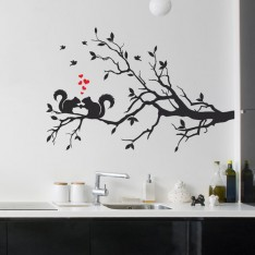 Sticker Ecureuils sur branche