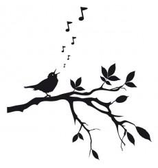 Sticker Oiseau chanteur
