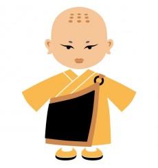 Sticker Moine tibétain