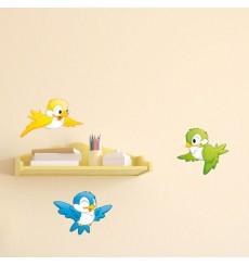 Sticker 3 Petits oiseaux