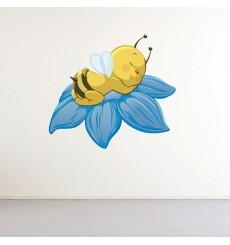 Sticker Abeille sur fleur