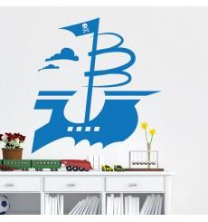 Sticker Bateau pirate