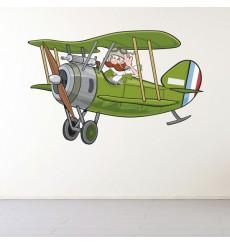 Sticker Bi-plane