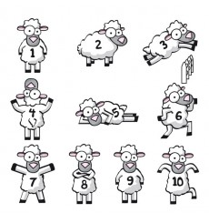 Sticker Compte les moutons