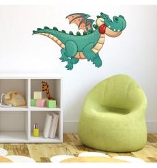 Sticker Dragon volant