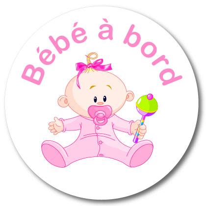 Sticker bébé à bord fille