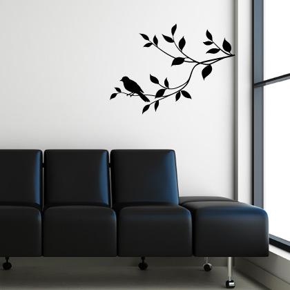 Stickers oiseau sur la branche