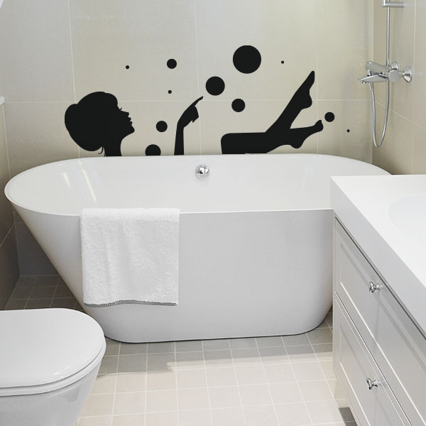 des stickers pour d corer votre salle de bain. Black Bedroom Furniture Sets. Home Design Ideas