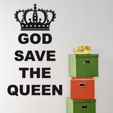 Sticker God save the queen - stickers citations & stickers muraux - fanastick.com