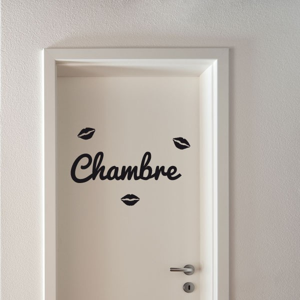 sticker chambre traces de l vres stickers porte stickers deco. Black Bedroom Furniture Sets. Home Design Ideas
