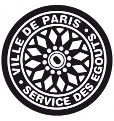 Sticker Plaque égout Paris