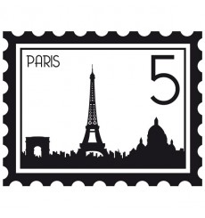 Sticker Timbre Paris