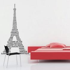 Sticker Tour Eiffel mots