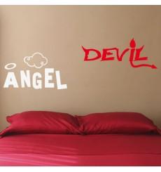 Sticker Ange et démon