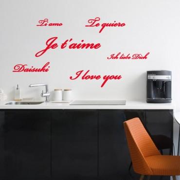 Sticker Je t'aime - stickers amour & stickers muraux - fanastick.com