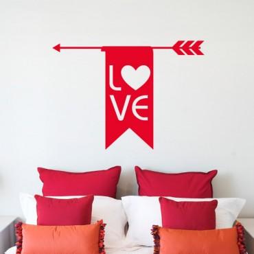 Sticker Flèche love - stickers amour & stickers muraux - fanastick.com