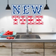 Sticker New York drapeau