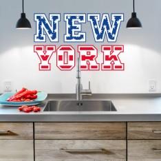 Sticker New York drapeau