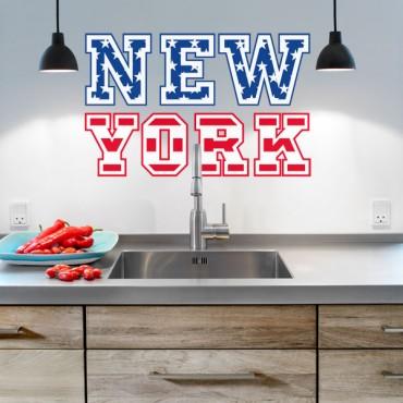 Sticker New York drapeau - stickers new york & stickers muraux - fanastick.com