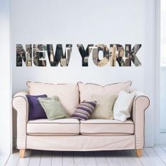 Sticker New York imprimé