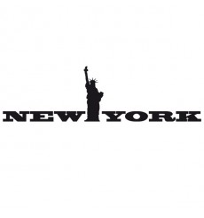 Sticker New York statue