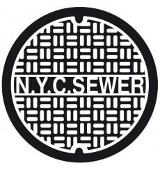 Sticker Plaque égout New York