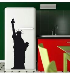 Sticker Silhouette statue liberté
