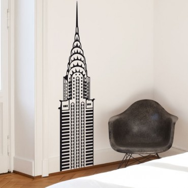 Sticker Sommet Chrysler Building - stickers new york & stickers muraux - fanastick.com