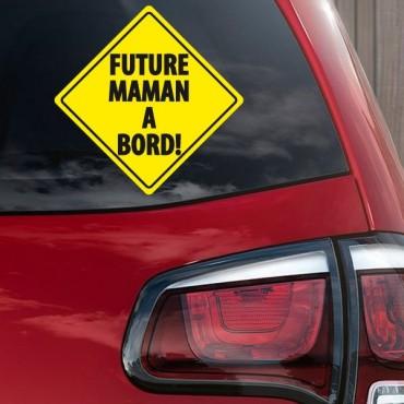 Sticker Future maman à bord - stickers bébé à bord & stickers muraux - fanastick.com