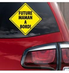 Sticker Future maman à bord