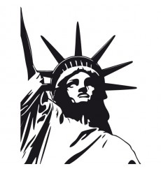 Sticker Statue de la liberté angle
