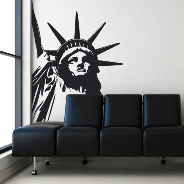 Sticker Statue de la liberté angle - stickers new york & stickers muraux - fanastick.com
