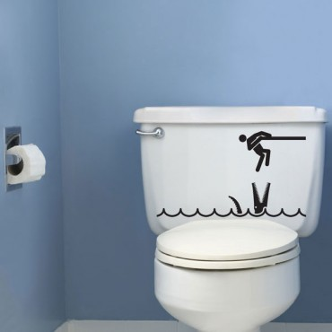 Sticker WC Crocodile - stickers animaux & stickers muraux - fanastick.com