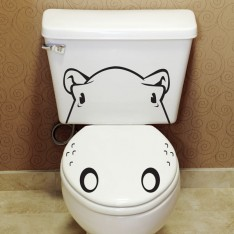 Sticker WC Hippopotame