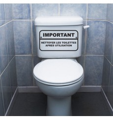 Sticker WC Important