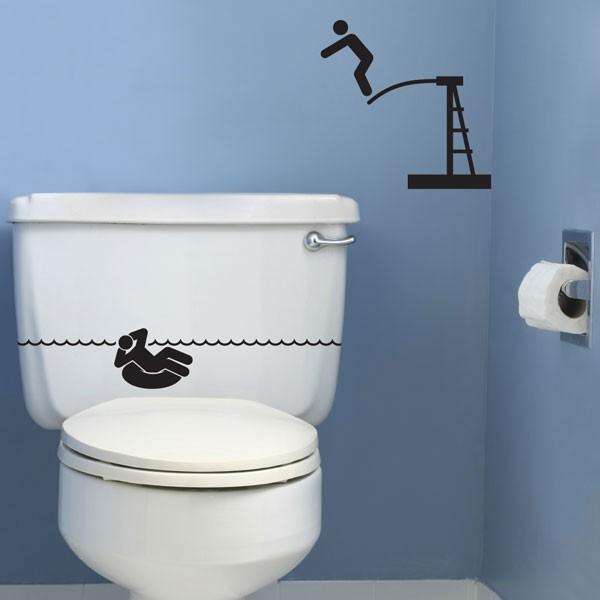 sticker wc piscine stickers maison stickers muraux. Black Bedroom Furniture Sets. Home Design Ideas