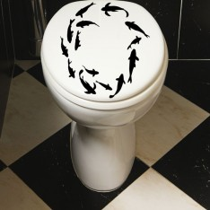 Sticker WC poissons