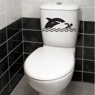 Sticker WC Requin - stickers animaux & stickers muraux - fanastick.com