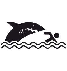 Sticker WC Requin