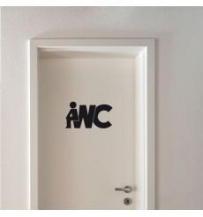 Sticker WC Signalétique WC