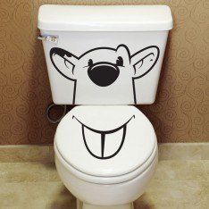 Sticker WC Souris
