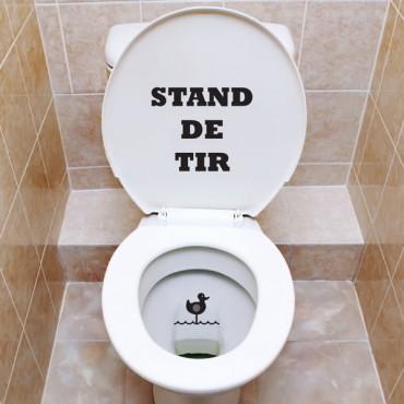 Sticker WC Stand de tir - stickers abattants wc & stickers muraux - fanastick.com