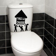 Sticker WC Tirez la chasse