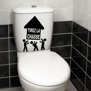 Sticker WC Tirez la chasse - stickers maison & stickers muraux - fanastick.com