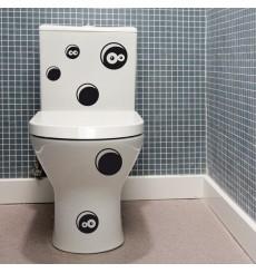 Sticker WC trous
