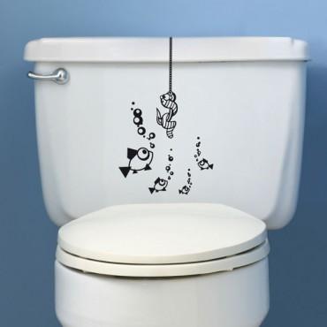 Sticker WC Ver suspendu - stickers animaux & stickers muraux - fanastick.com